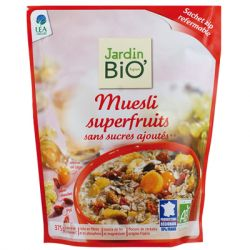 Muesli sans sucres ajoutés Superfruits  - 375 grs