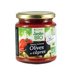 Sauce Tomates, Olives et Câpres Bio - 200grs