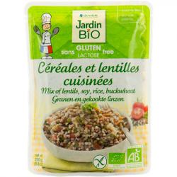 Céréales et lentilles cuisinées Bio - 200grs