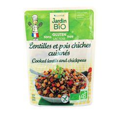 Lentilles et Pois chiches cuisinés Bio - 260grs