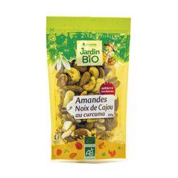 Amandes et noix de cajou au curcuma Bio - 100g