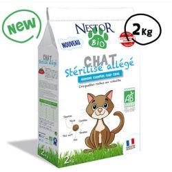 Croquettes Bio - Chat stérilisé, allégées - 2kgrs