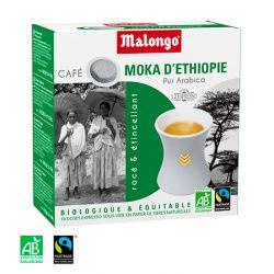 Café - Moka d'Ethiopie, Bio et Commerce équitable - 16 dosettes