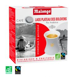 Café - du Laos, Bio et Commerce équitable - 16 dosettes