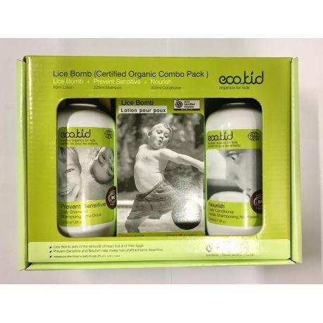 Coffret enfant - Soins des cheveux préventif et anti-poux- bio Eco.kid