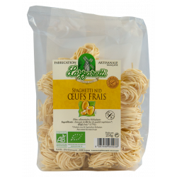 Spaghetti nids aux oeufs frais bio 250gr