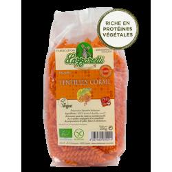 Torsades lentilles corail sans gluten bio 250gr