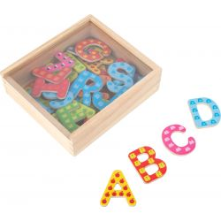 Lettres magnétiques colorés