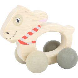 """Jouet d'éveil """"mouton Ludwig"""" à roulettes"""