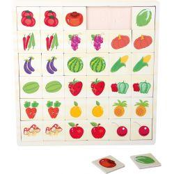 Puzzle mémo Jardin en couleurs