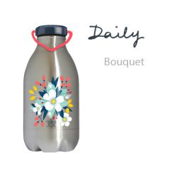 Gourde inox DAILY flamantgravée 450 ml