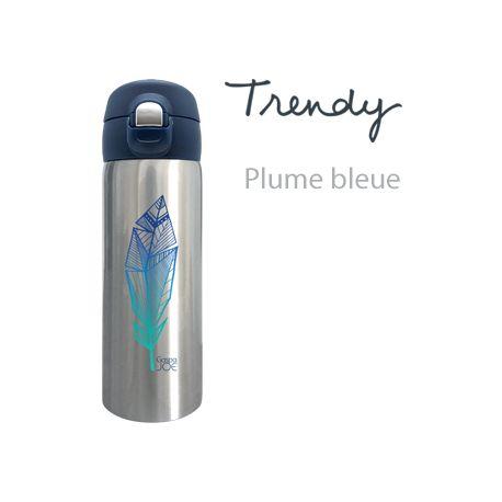 Mug isotherme trendy inox PLUME BLEUE