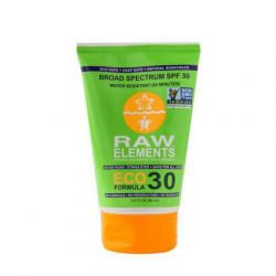 Crème solaire bio RAW Elements SPF30 100% naturel Tube  88 ml