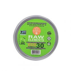 Crème solaire bio RAW Elements SPF30 100% naturel Pot 88 ml