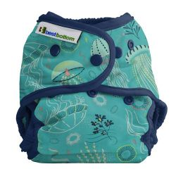 Couche lavable multi tailles BestBottom -  Hibou vert