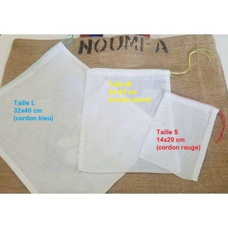 Sacs  L pour céréales et légumineuses en coton - Mocamana