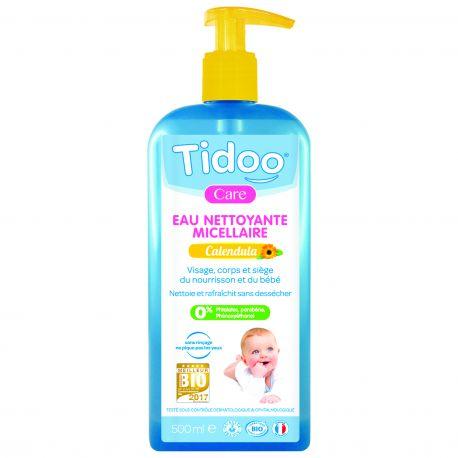Eau nettoyante micellaire au calendula bio Tidoo Care 0,5l