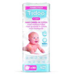 Maxi carrés coton bio Tidoo par 80