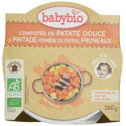 Assiette Patate douce chataigne Pintade dés 12 mois 230 grs