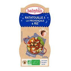 2 bols bonne nuit Ratatouille Provencale Riz 2 x 200g dès 12 mois