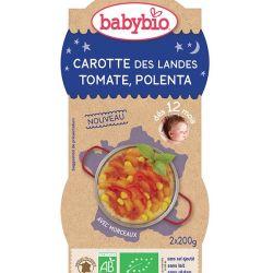 2 bols bonne nuit Carotte Tomate Polenta 2 x 200g dès 12 mois
