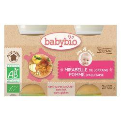Mirabelle Pomme dès 4 mois 2X130 grs