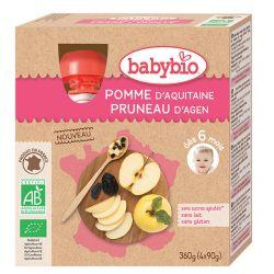 Gourdes pomme Aquitaine Pruneau dès 6 mois par 4