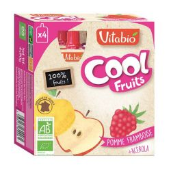 Cool fruits pomme framboise - gourdes de fruits - 4x90g