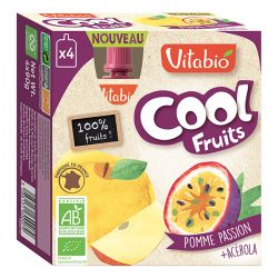 Cool fruits pomme Passion - gourdes de fruits - 4x90g