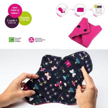 Kit Duo Serviette Plus lavables imperméables + Pochette - PLIM