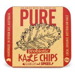 Chips de choux Kale Bio à l'ail et épices Vegan