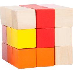 Cube à reconstruire bleu-vert
