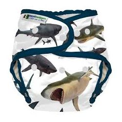 Couche lavable multi taille BestBottom - Requins