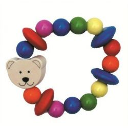 Hochet élastique ours