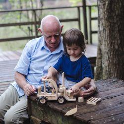 Chariot élévateur  en bois collection collector