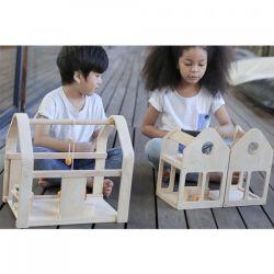 Maison de poupée meublée 3 en 1