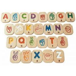 Alphabet A-Z, langage des signes