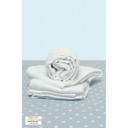 Lot de 3 langes unis blanc