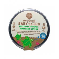 """BABY & KIDS"""" protection solaire SPF30 (dans une boîte sans plastique) RAW Elements"""