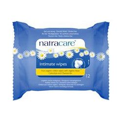 Lingettes intimes en coton biologique Natracare DLUO 07/18
