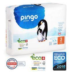 Pingo. Couches T3 écologiques jetables. 4-9 kgs