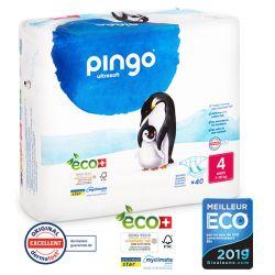 Pingo. Couches T4 écologiques jetables. 7-18 kgs