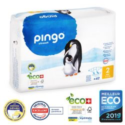 Pingo. Couches T2 MINI écologiques jetables. 3-6 kgs