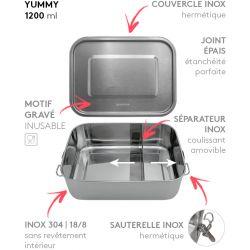 Lunch box YUMMY Gaspajoe tout Inox étanche - 1200ml