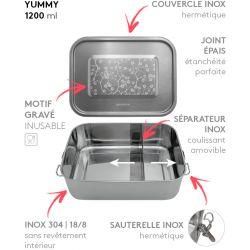 Lunch box YUMMY Cerisier tout Inox étanche - 1200ml