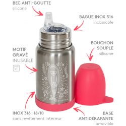 Gourde des petits Sippy isotherme inox Ours 350 ml