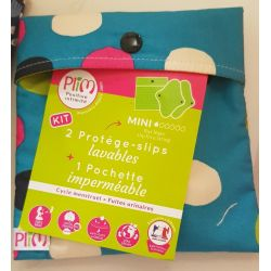 Kit Duo protège-slip MINI lavables imperméables + Pochette - PLIM