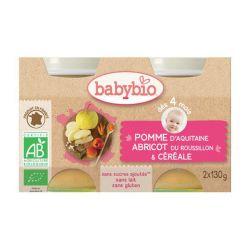 Pomme abricot céréales dès 4 mois 2X130 grs