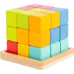 Puzzle cubes 3D Formes géométriques tetris