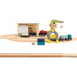 Gare de marchandises avec accessoires